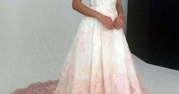 Blush Ball Gown Wedding Dress: V-neck Silk Organza Ball Gown Wedding Dress With Blush