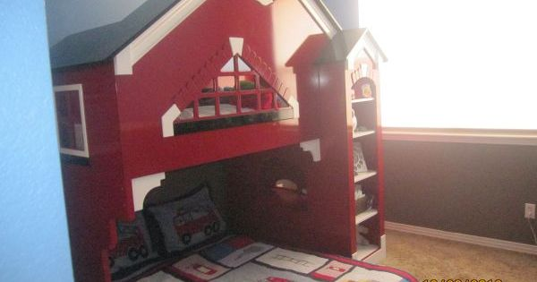 Bunk bed awsome fireman bed kids space pinterest firemen bunk bed and fireman room - Fireman bunk bed ...