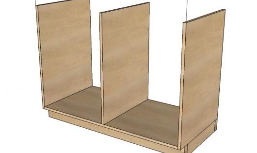 Kitchen base cabinets 101 ana white reference for broom for Kitchen cabinets 101