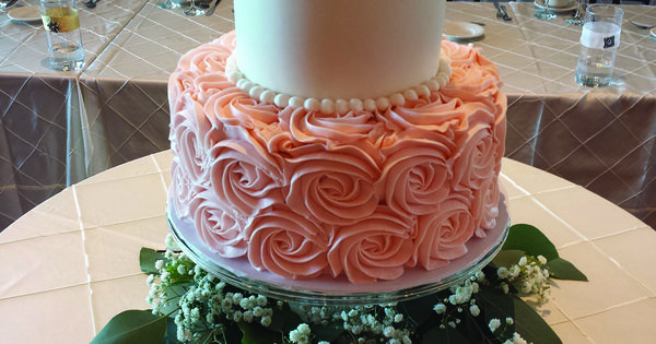 Tier Wedding Cakes Rosette Bottom