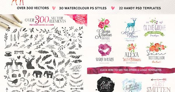 Watercolour Quick! Get this as part of the Ultimate Designer's Bundle (this