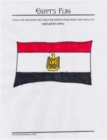 Egypt Theme Day Free Printable Coloring Page Egypt S Flag