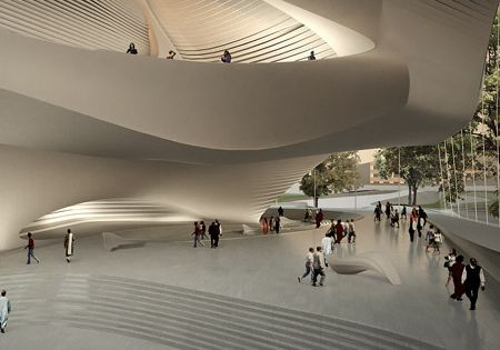 King Abdullah II House of Culture & Art by Zaha Hadid, a