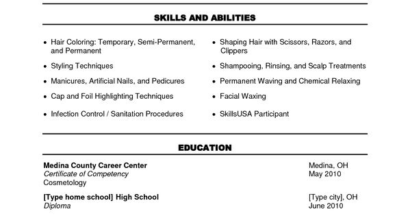 Cosmetology Instructor Resume Sample Http Www