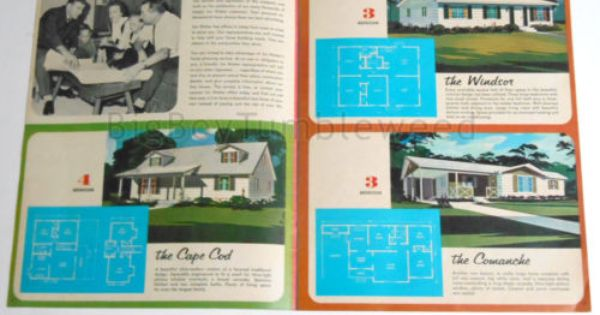 Vintage Brochure Print Jim Walter Homes Floor Plans Mid Century Home Design Book Brochure Print House Floor Plans Book Design