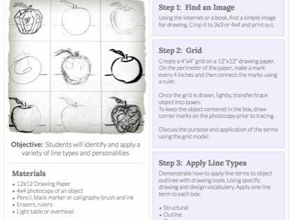Contour Line Drawing Lesson Plan Middle School : Line drawing lesson plans high school anti censorship