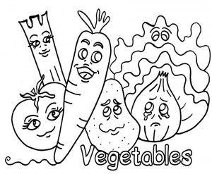 Smart Vegetables Coloring Vegetable Coloring Pages Fruit Coloring Pages Fruits And Vegetables Pictures
