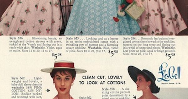 1950s Fashion | Fads and Fashions | Lana Lobell catalog | Pop