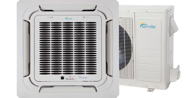 Senville Ceiling Cassette 18000 Btu 21 Seer Single Zone Mini Split Ac Heat Pump Remote Ceiling Air Conditioner Window Air Conditioner Heat Pump