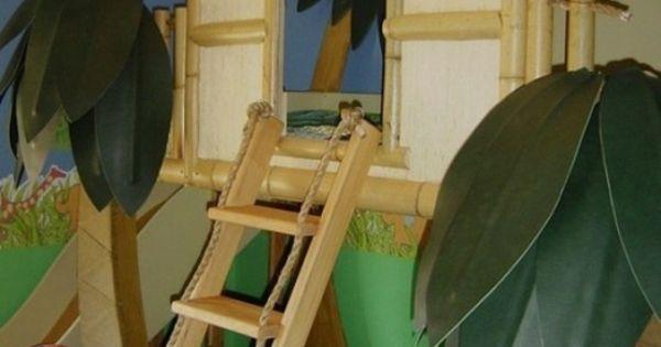 lustige dschungel dekoration im kinderzimmer 15 sch ne beispiele dschungel deko baumhaus. Black Bedroom Furniture Sets. Home Design Ideas
