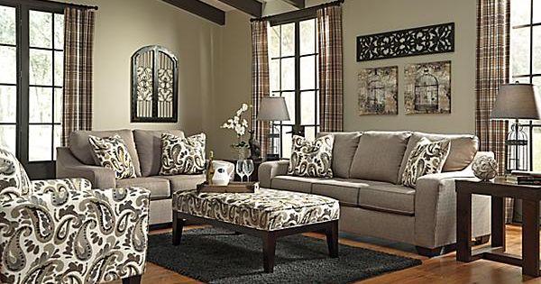 The Arietta Sofa From Ashley Furniture Homestore The Arietta Shitake Upholstery