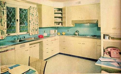 Inspirations 1950 S Kitchens Popular Kitchen Colors Kitchen Color Trends Retro Kitchen