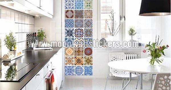 Azulejo portugu s pegatina 10 x 10 cm decoraci n de for Pegatinas baldosas cocina