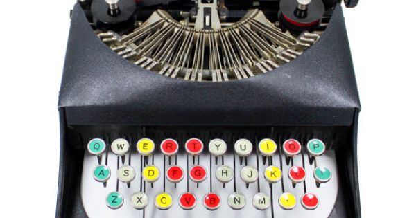 Antique Bantam Typewriter with Color Glass Keys by BrooklynRetro, $500.00 @juNxtaposition I've