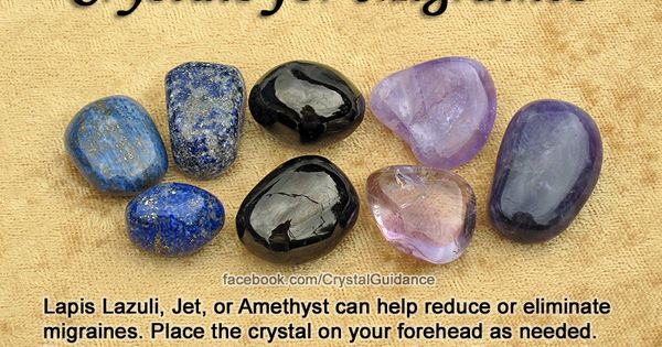 Crystals for Migraines — Lapis Lazuli, Jet, Amethyst, or Sugilite (not shown)