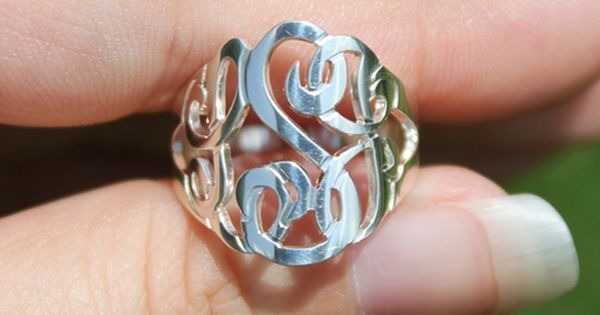 $76 Cut Out Monogram Ring | monogrammed, personalized, monogram cut out ring