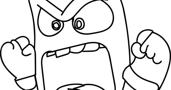 Nice Inside Out Character Anger Face Coloring Page Inside Out