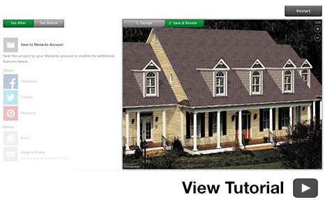 Roofing Siding Visualizer At Menards Roof Siding House Exterior Roofing