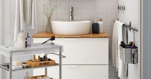 Petite salle de bains 6 bonnes id es piquer chez ikea for Evier salle de bain ikea