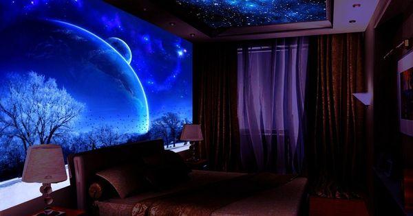 Роспись интерьера флуоресцентными