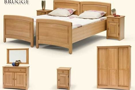 Meubelfabriek de linde brugge ledikant comforthoogte eiken blank klassiek kast commode nachtkast - Klassiek bed ...