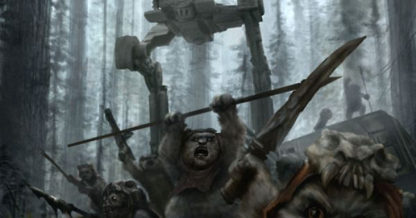Savage Ewoks... by chrisscalf starwars painting ewoks