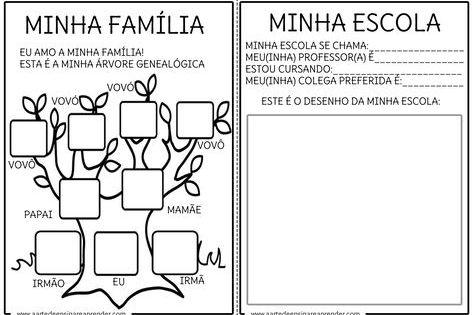 Pin De Eliana Lelis Em Atividades Pedagogicas Projeto Identidade