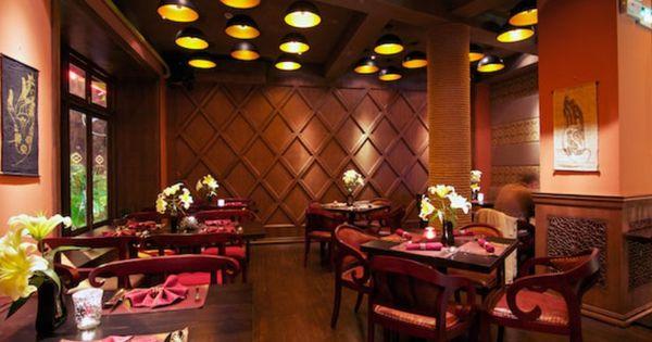 Saffron red interior design shanghai china indian