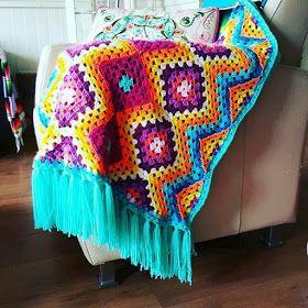 بطانيات الكروشية طريقة بطانية كروشية غرزة الزجزاج مفرش كروشية مربعات جراني Plaid Crochet Crochet Blanket Blanket