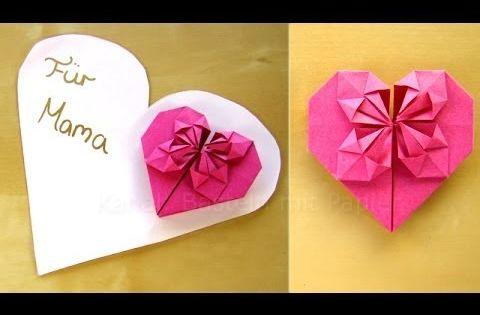 Muttertagsgeschenke basteln muttertag basteln youtube ideen pinterest origami craft - Muttertagsgeschenke selber basteln ...
