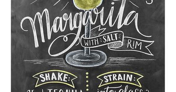 Margarita Recipe Chalkboard Art Print Ps Dads And