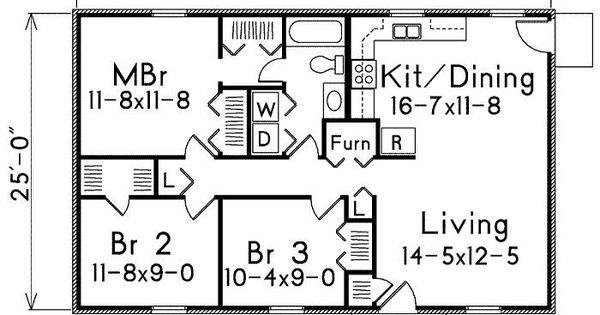 Image Result For 40x20 Floor Plan Ranch Style House Plans Bedroom House Plans Bathroom Floor Plans