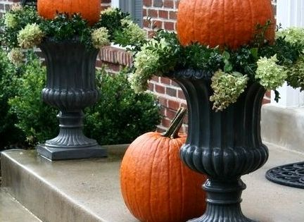 Decorating With Urns the Fall Edition. Wether they stand alone or dressed