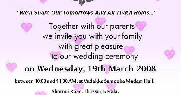 wording for wedding invitations | sample wedding ...