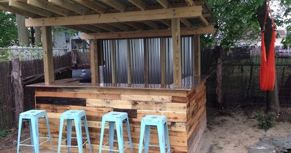 Pallet Recycled Outdoor Bar Jpg 620 215 465 Outdoors