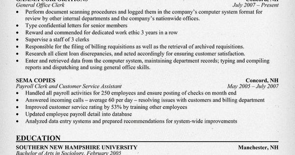 general office clerk resume  resumecompanion com