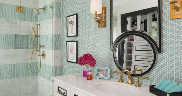 Kate Spade Decorating Tips: Kate Spade Inspired Bathroom By IBB Design