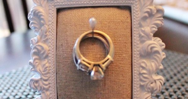 DIY Ring Holder Frame - great as a gift too!