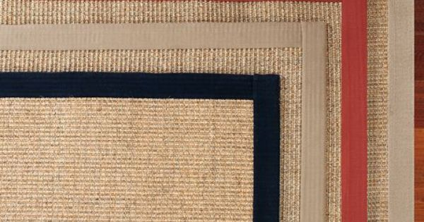 Dining Room: Color-Bound Sisal Rug - Black | Pottery Barn | floors | Pinterest | Sisal rugs ...