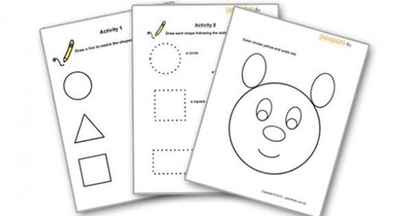 Shape Worksheets For Preschoolers 2 4 Year Olds Math Games For Kids Printable Preschool Worksheets Preschool Worksheets Free worksheets for three year olds