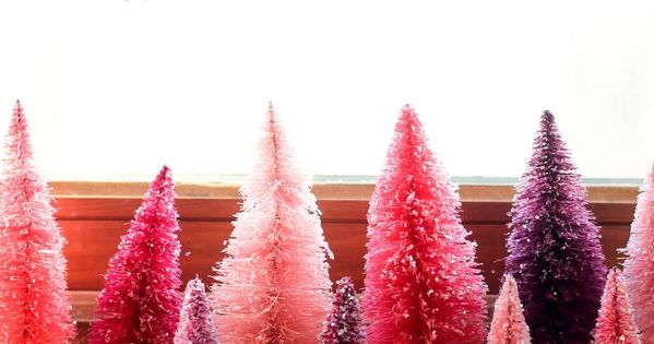 DIY dyed bottle brush trees! @Shelby Herman