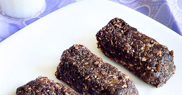 Like a chocolate larabar No oil, no sugar, no flour. Chocolate snack