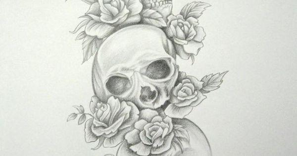 skull tattoos for women | new-skull-sleeve-tattoos-for-women-skull-tattoo-sleeves-skull-roses ...