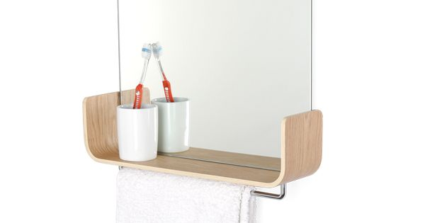 Mirror Shelf With Hanging Rail Universal Expert By Sebastian Conran Bathroom Inspiration