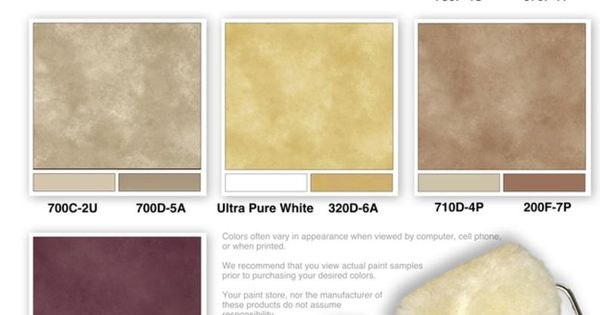 Home Depot Faux Finish Color Sample Combinations By The