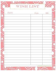 picture regarding Wish List Printable referred to as Pin upon Small business