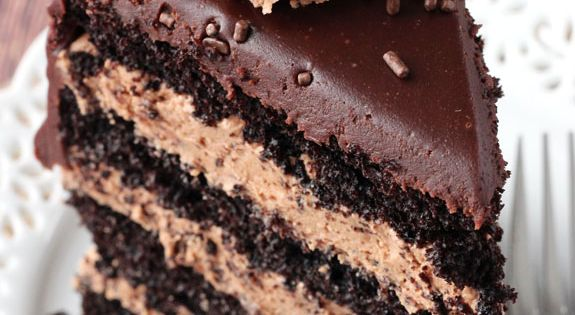 Chocolate Nutella Cake -- Chocolate Cake, Nutella Frosting and Chocolate Ganache