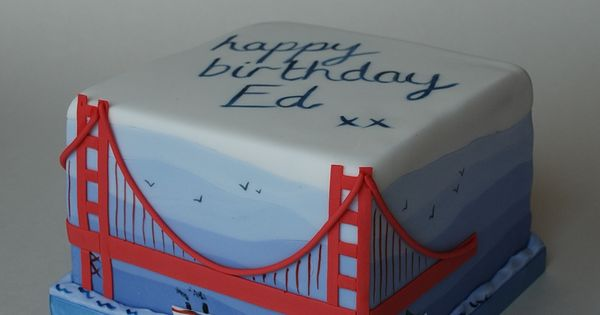 Golden Gate Bridge Cake For My Wonder Twins Pinterest