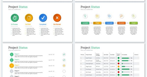 Project Status PowerPoint Presentation Template - Business PowerPoint Templates