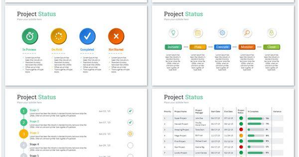 Project Status Powerpoint Presentation Template Agile Project Management Project Management Tools Program Management